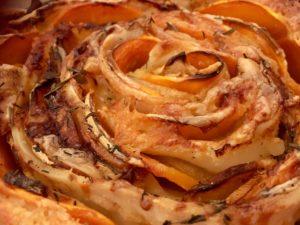 Tarte la butternut et aux pommes